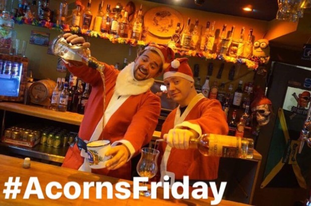 Acorns Friday santas